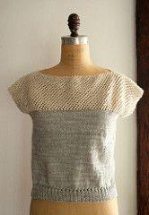 Ravelry: Cap Sleeve Lattice Top pattern by Purl Soho
