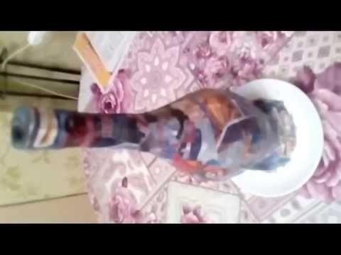 ваза для цветов из обычной бутылки, ч.1 - YouTube