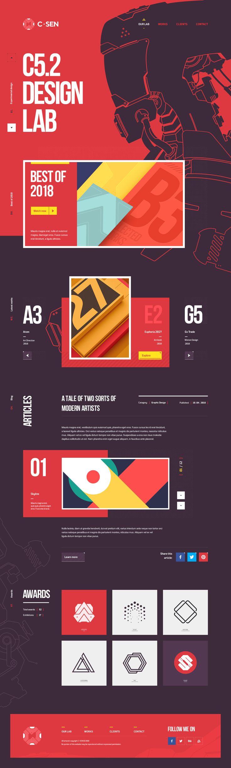 C / Sen Design Lab – Studio portfolio. Ui design concept and visual identity by Mike | CreativeMints