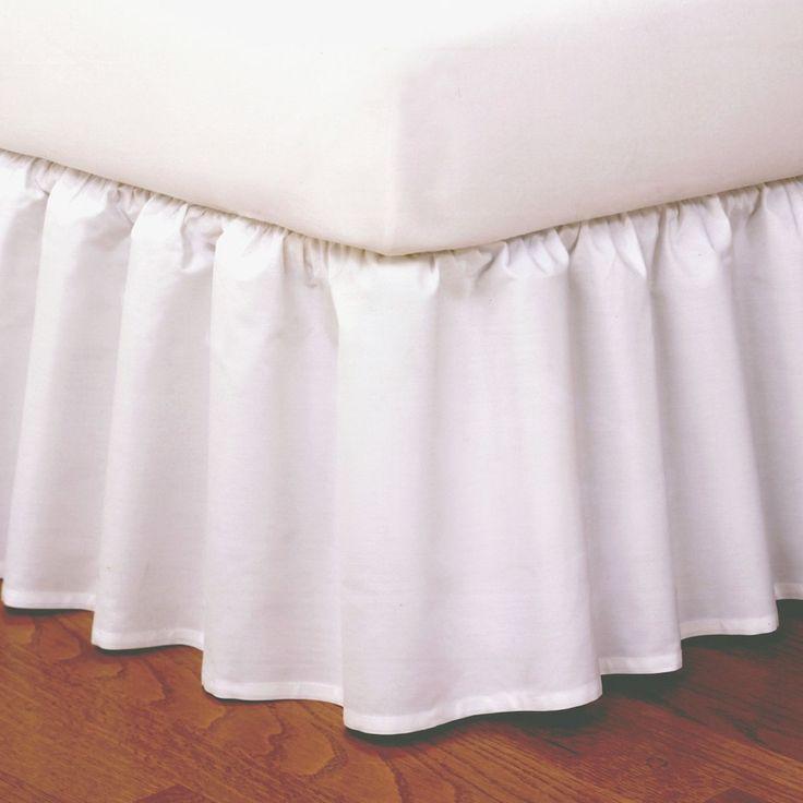 Magic Skirt Wrap-around Ruffled Bed Skirt - White (Queen)