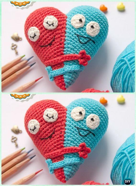Amigurumi Heart Free Pattern : 25+ best ideas about Crochet heart patterns on Pinterest ...