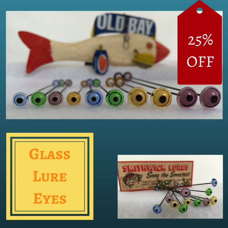 For your Carving and Sculpture Glass Eyes On Wire to use in DIY Projects. Fish Lures, Decoys, Shore Birds, Primitive Arts and Sculpture.  #glasseyes #fishlures #decoys #sculpture #diycrafts #crafteyes #craftsupplies #glasseyesonline #primitive #lureeyes #tacklecrafter #heddonlure #creekchub #teddybear #carvingtools