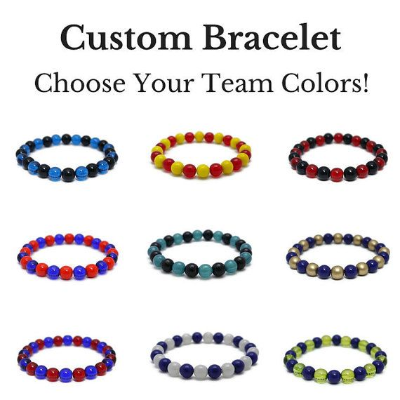 Choose your favorite school or team colors, and add some spirit to your day!