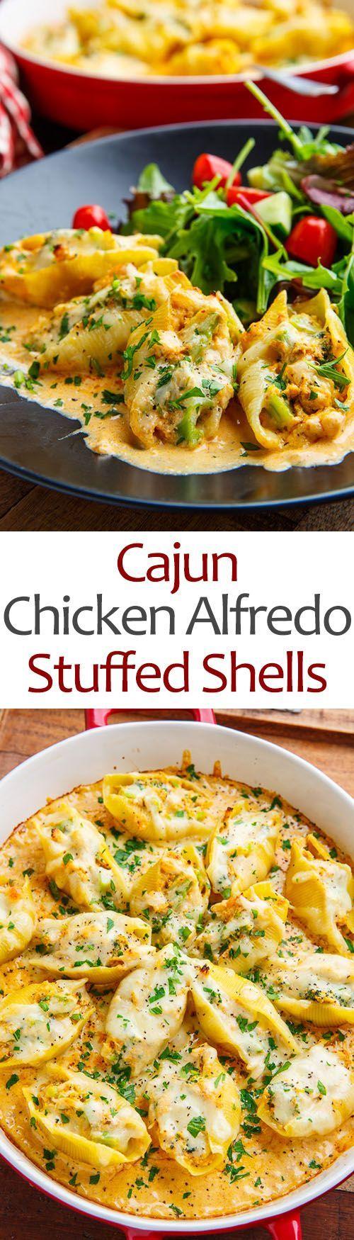 Cajun Chicken Alfredo Stuffed Shells