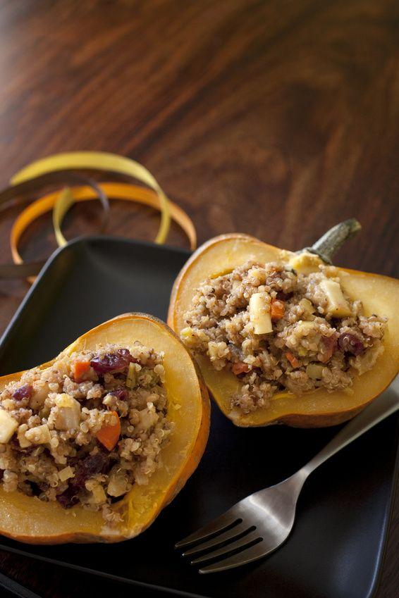 Beautifully Stuffed Acorn Squash | Daniel Fast Recipes