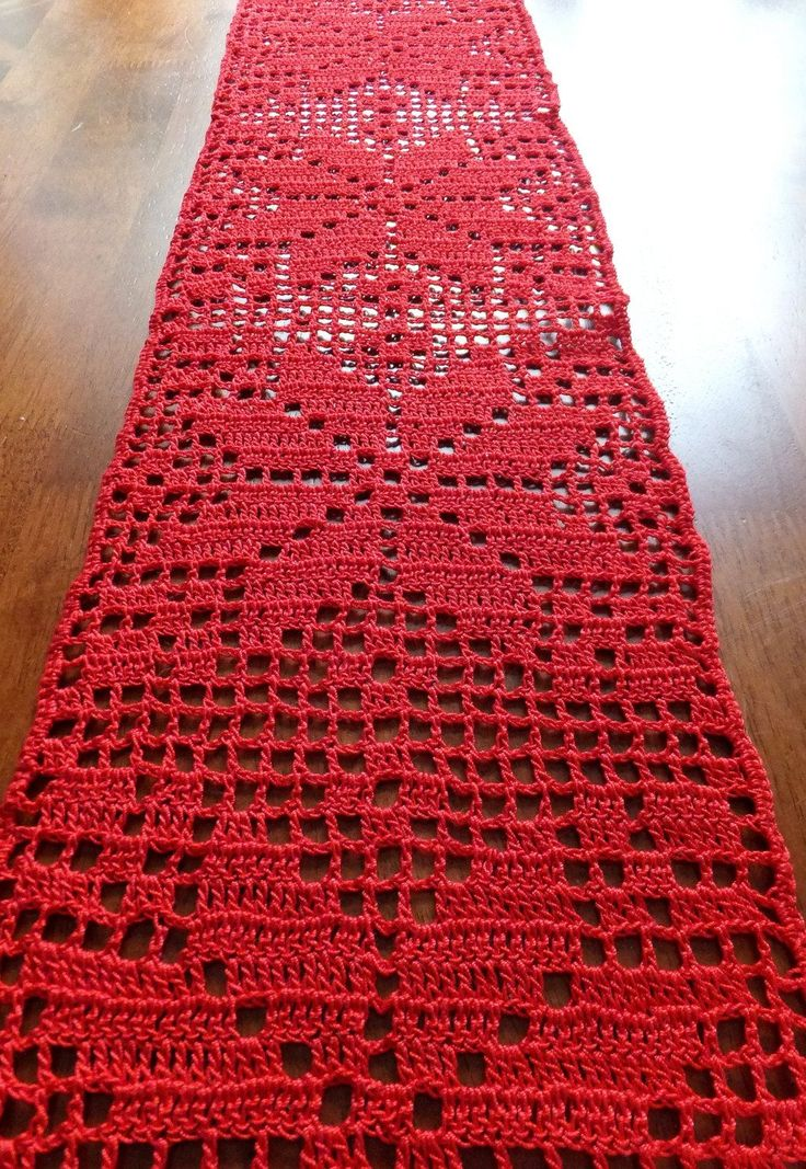 SALE Christmas table runner crochet doily crochet by MadeByElina