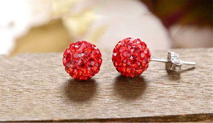 Brincos cristal de rocha vermelho - B5 1 PAR = 5,05€ 2 PARES = 9,00€ OFERTA DOS PORTES DE ENVIO NA COMPRA DO SEGUNDO PAR