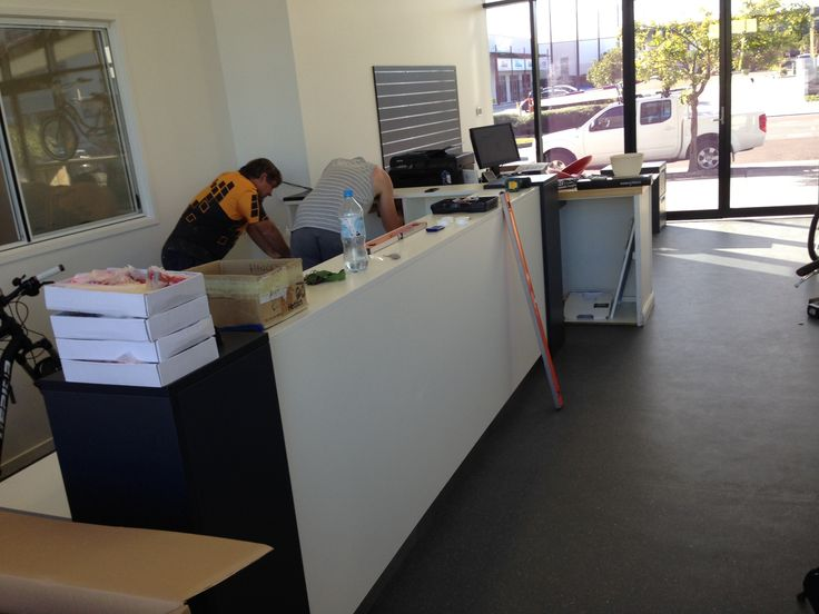 New counter being installed at EBC