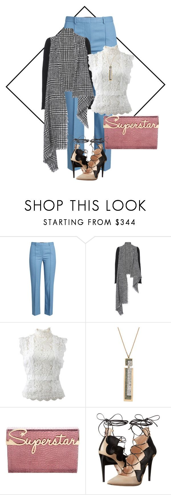 """Untitled #281"" by israa-hosni ❤ liked on Polyvore featuring Theory, Faliero Sarti, Oscar de la Renta, Bee Goddess, Charlotte Olympia and Ruthie Davis"