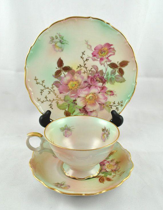 Schumann Arzberg Germany #Tea Cup & Saucer set with dessert plate