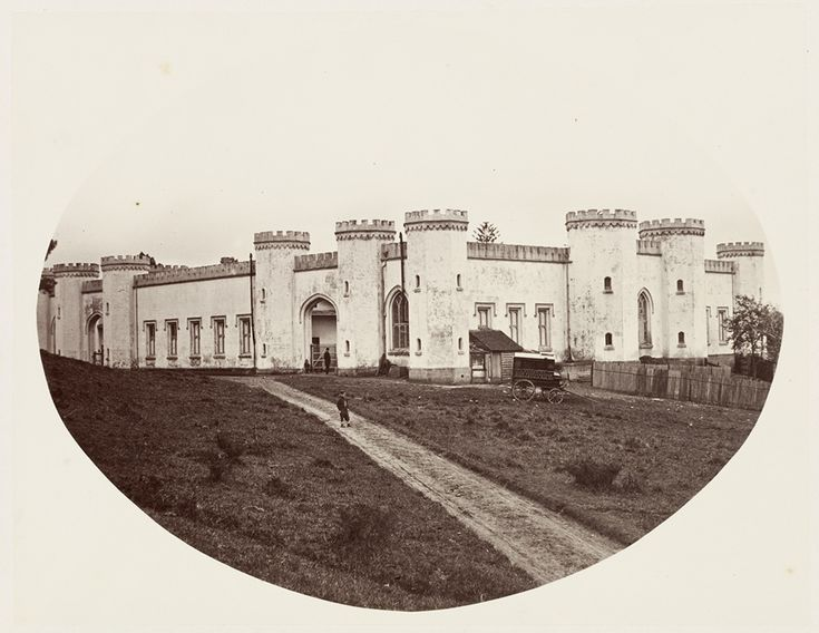 Government House Stables in Sydney in 1872, later the Conservatorium of Music.