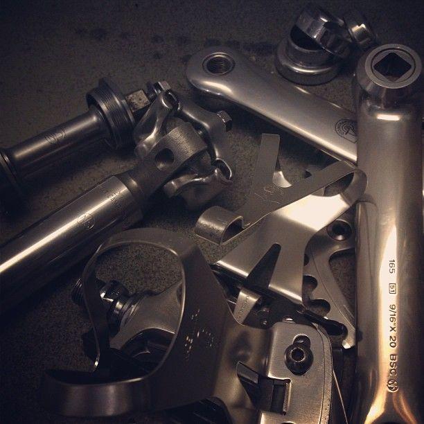 #njs #keirin #campagnolo #pista #fixed #fixedgear #japan #italian #bikeporn #goods #ram