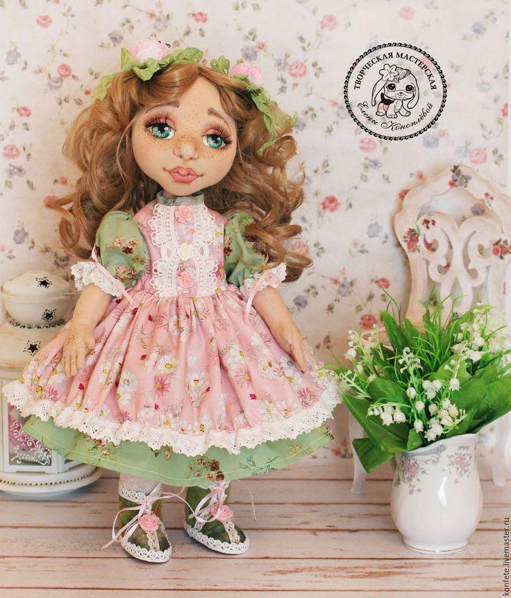 Купить Кукла Кларисса текстильная интерьерная с объемным личиком - подарок девушке, подарок коллеге
