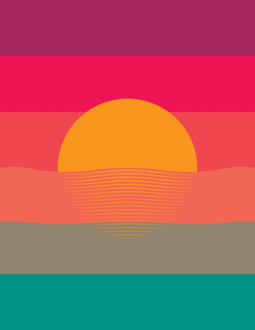 sunset | colors | graphic design