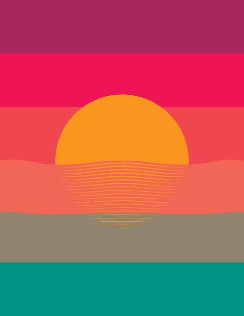 sunset   colors   graphic design