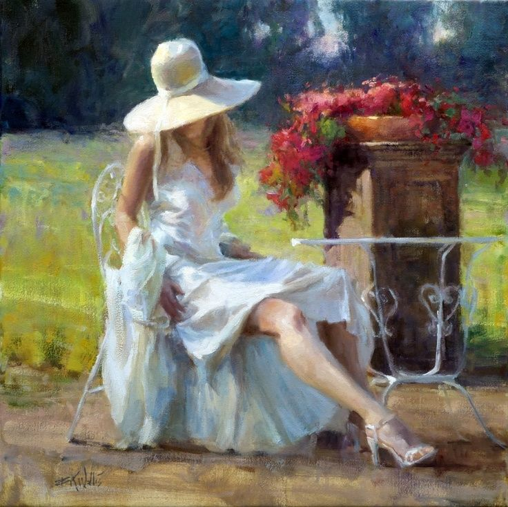 Eric K. Wallis - Woman with Hat   Eric K. Wallis - Art ...