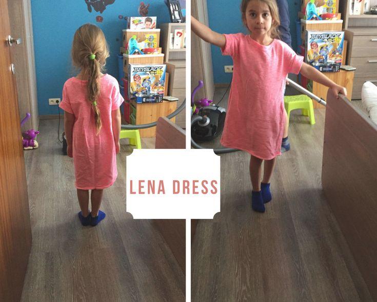 De Lena dress oorspronkelijk voor mijn meid, maar te klein... dan maar naar Jasminepien!