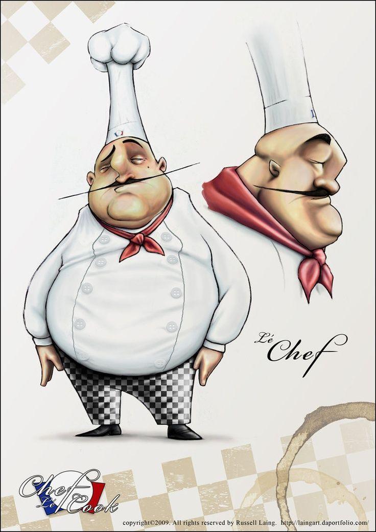 Смешные рисунки поваров, юбилейную