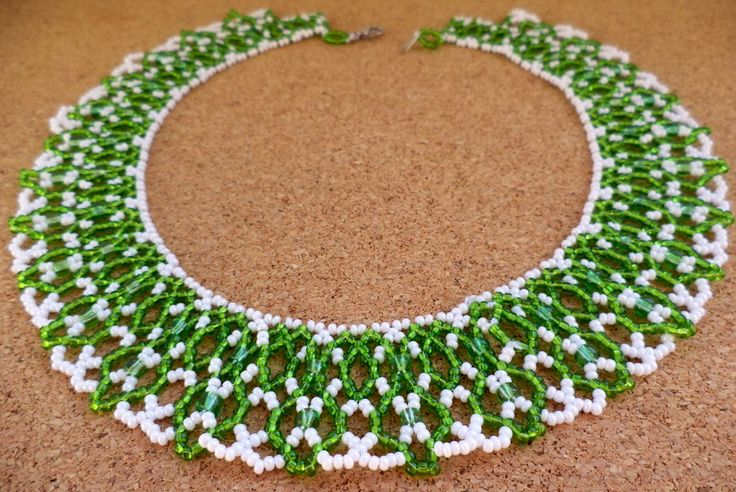 Free pattern for necklace First Snowdrop