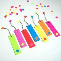 DIY Bookmarks in Neon Cardstock - northstory.ca