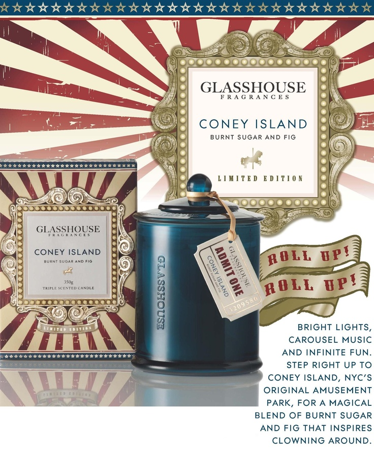 Glasshouse Candles Limited Edition - Coney Island
