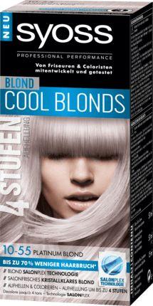 Syoss Cool Blonds 10-55 Platinum Blond schenkt ein kühles Platinblond mit Anti-Gelbstich-Effekt. Die professionelle Formel mit Blond-Pigment-Mix hellt das...