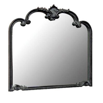 Black antique style mirror