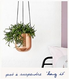 "Pot de fleur à suspendre ""Hang it"" - 39.50€ Bird on the wire A commander en ligne"