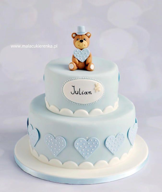 Baby boy christening cake by Natalia Kudela