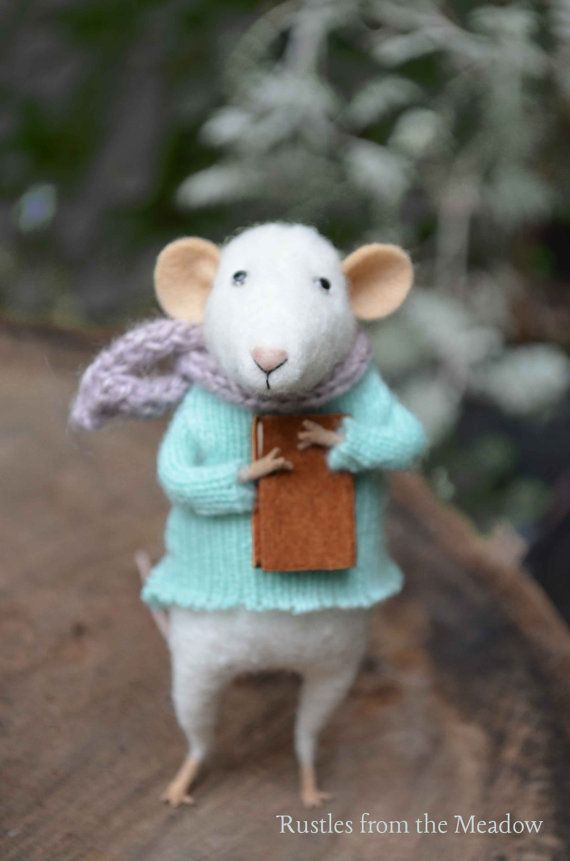 Little Mouse Needle Felted Doll Rustles from