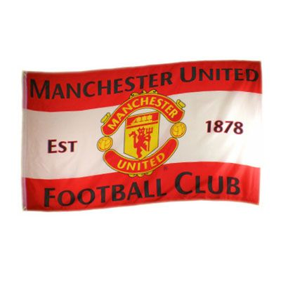 Manchester United flag. This officially licensed Soccer flag makes for a great gift. 5ftX3ft.