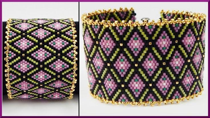 DIY Peyote stitch | Armband aus Delica Perlen | Schmuck | Flower Beaded ...