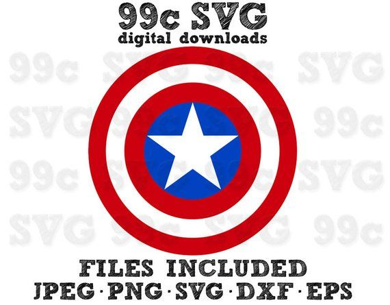 Captain America Shield SVG DXF Png Vector Cut File Cricut Design