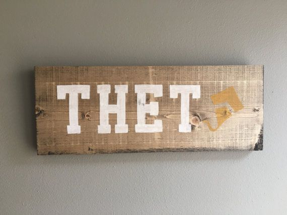 handmade wood Kappa Alpha Theta sign outline by TheOwlsHootShop