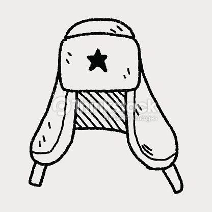 Clipart vectoriel : Chapeau doodle Russie