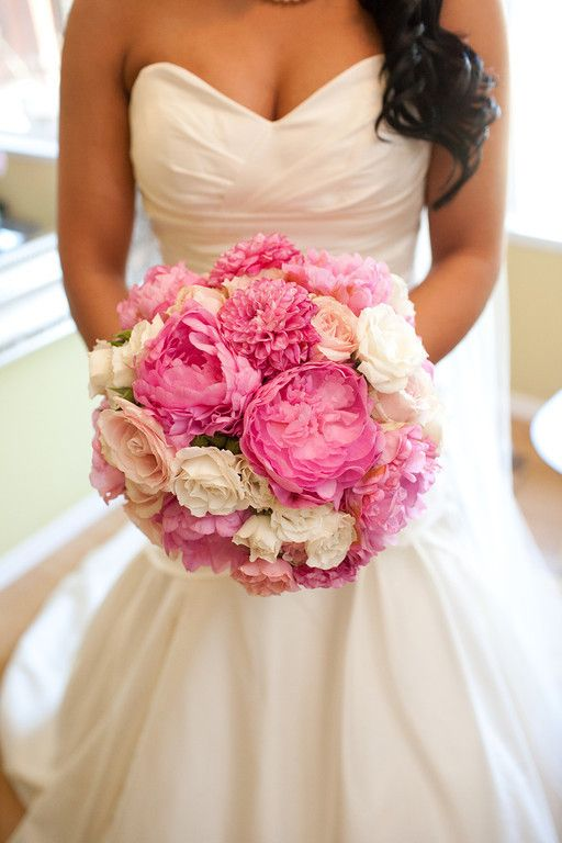 Gorgeous Pink Peony Bouquet. i want for my wed!! soooo fab