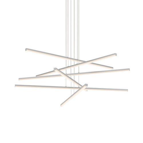 Stix Bright Satin Six-Light LED Pendant