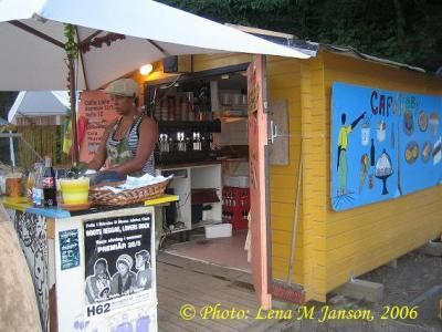 Cafe Tubby (Swedish rasta cafe, during Summer)