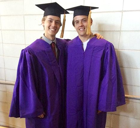 Dylan and Cole Sprouse graduation