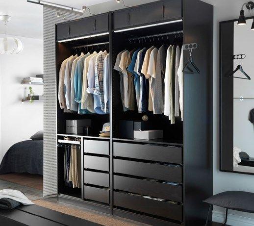 Sypialnia IKEA - Duża sypialnia małżeńska z garderobą, styl nowoczesny - zdjęcie od IKEA