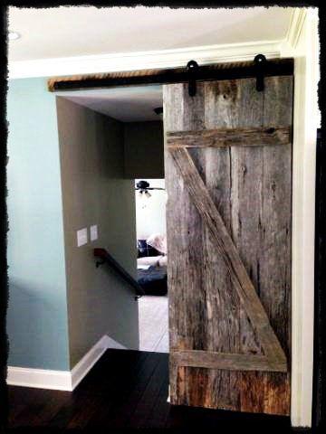 Sliding barn wood door  Black SheepWood DoorsBarn WoodInteriorsChildren