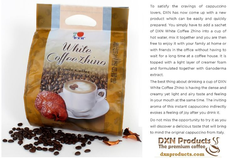DXN Healthy coffee for cappuccino lovers: http://dxnproducts.com/shop/dxn-white-coffee-zhino/