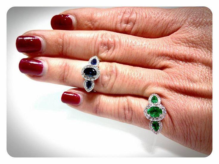 Un classico intramontabile!!! Zaffiri, smeraldi, il tutto contornato dagli immancabili brillanti!