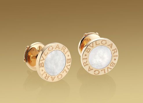 bulgari bulgari earrings in 18 kt pink gold with mother of pearl just got these at the fake market today