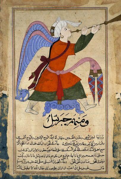 The archangel Gabriel from Kitab Aja'ib al-makhluqat wa Gharaib al-Mawjudat…