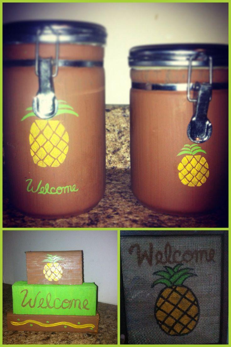 Primitive pineapple kitchen theme  Kitchen  Pineapple