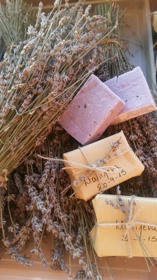 Lavender soap for Marilena's Christening.  Μπομπονιέρα βάφτισης με σαπούνι λεβάντα www.nanasoaps.wordpress.com