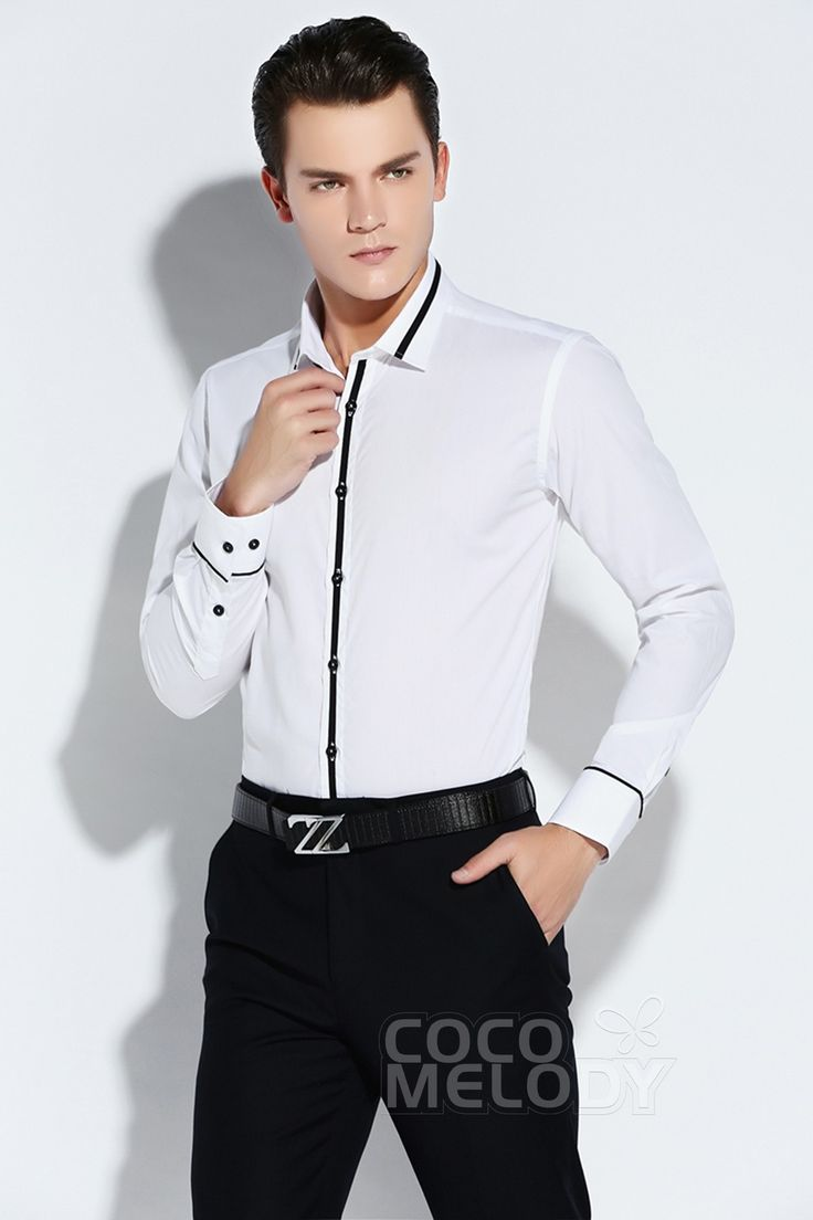 Luxurious Dress Shirts Mens Formalwear Spread Collar LT0015003 #cocomelody