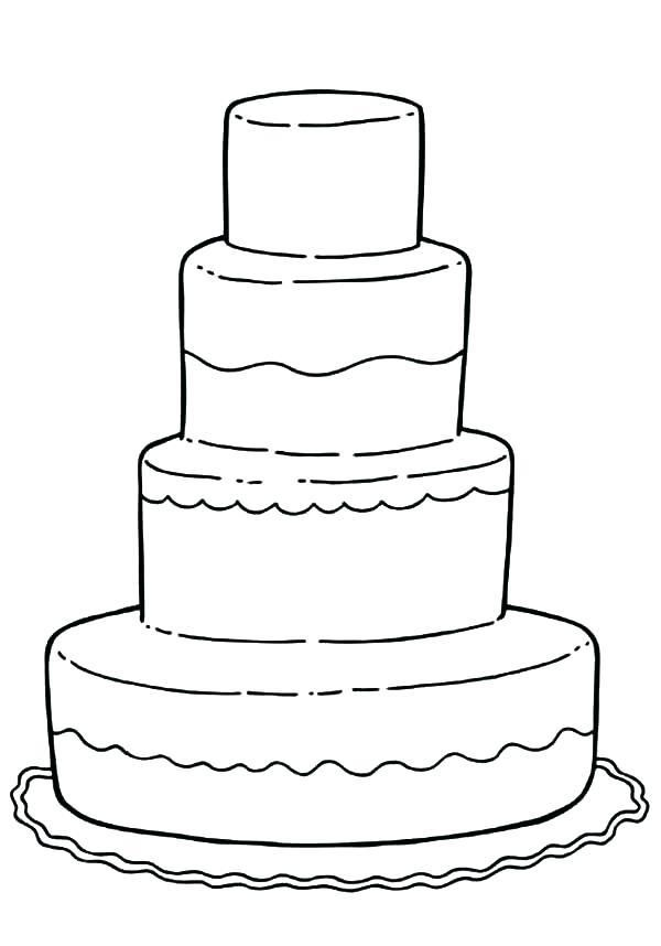 Coloring Sheet Wedding Cake Coloring Pages
