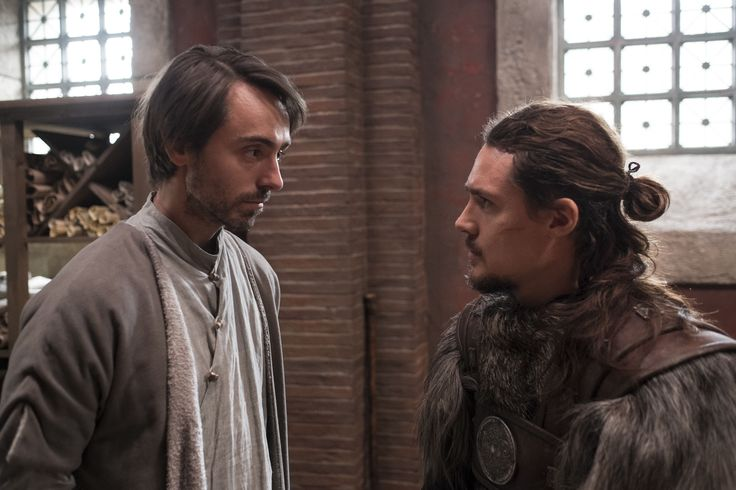 """I'll have my broth and you'll have your debt."" The Last Kingdom: David Dawson as King Alfred and Alexander Dreymon as Uhtred"